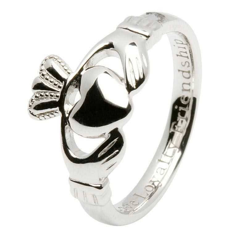 Ring: SS Claddagh. Ladies Insc