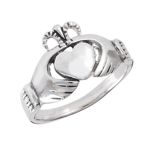 Ring: Claddagh with Open Crown, SS