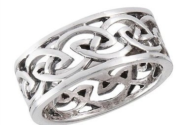 Heritage Celtic Wide Open Knotwork Ring AsIKALhye