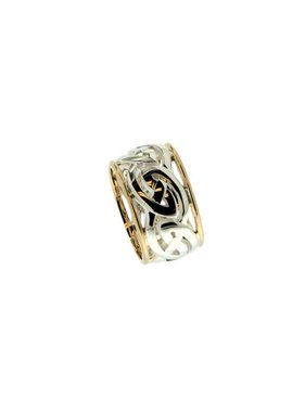 Ring: Ronnoch - Sterling & 10k Gowan Knot with Rails