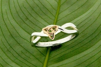 Ring: Sterling & 10k Infinity Knot
