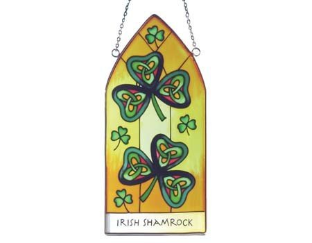 Stained Glass: Irish Shamrock Gothic