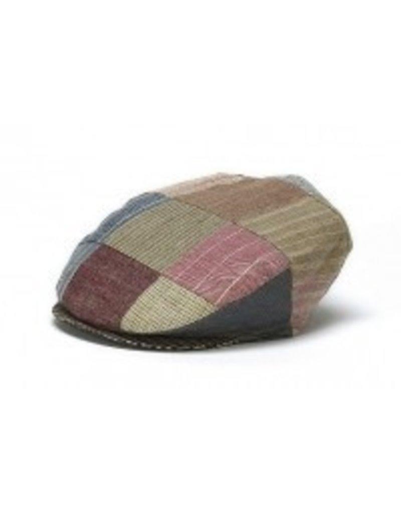 Hat: Vintage Linen Patchwork Cap
