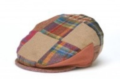 Hat: Linen Patchwork Cap, Bright