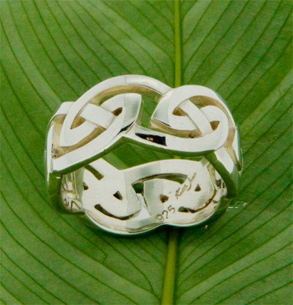 Keith Jack Ring: Gowan - Sterling Eternity Knot, X-Wide