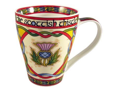 Clara Mug: Thistle Mug Scottish