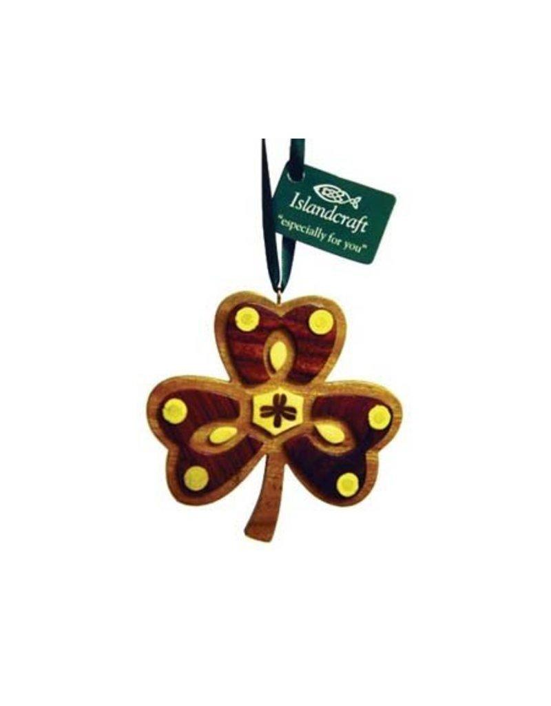Ornament: Wood Shamrock
