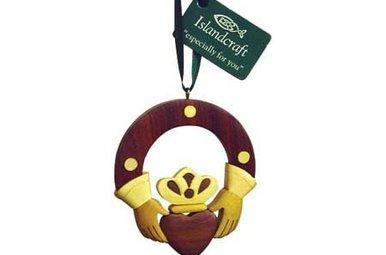 Ornament: Wood Claddagh Ring