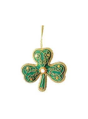 Ornament: Fabric Shamrock
