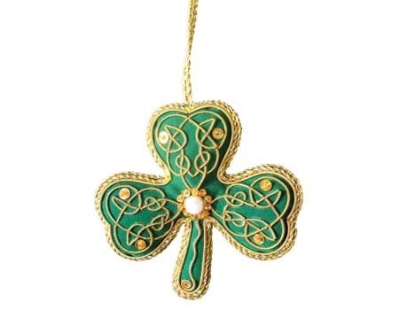 Ornament: Fabric Shamrock