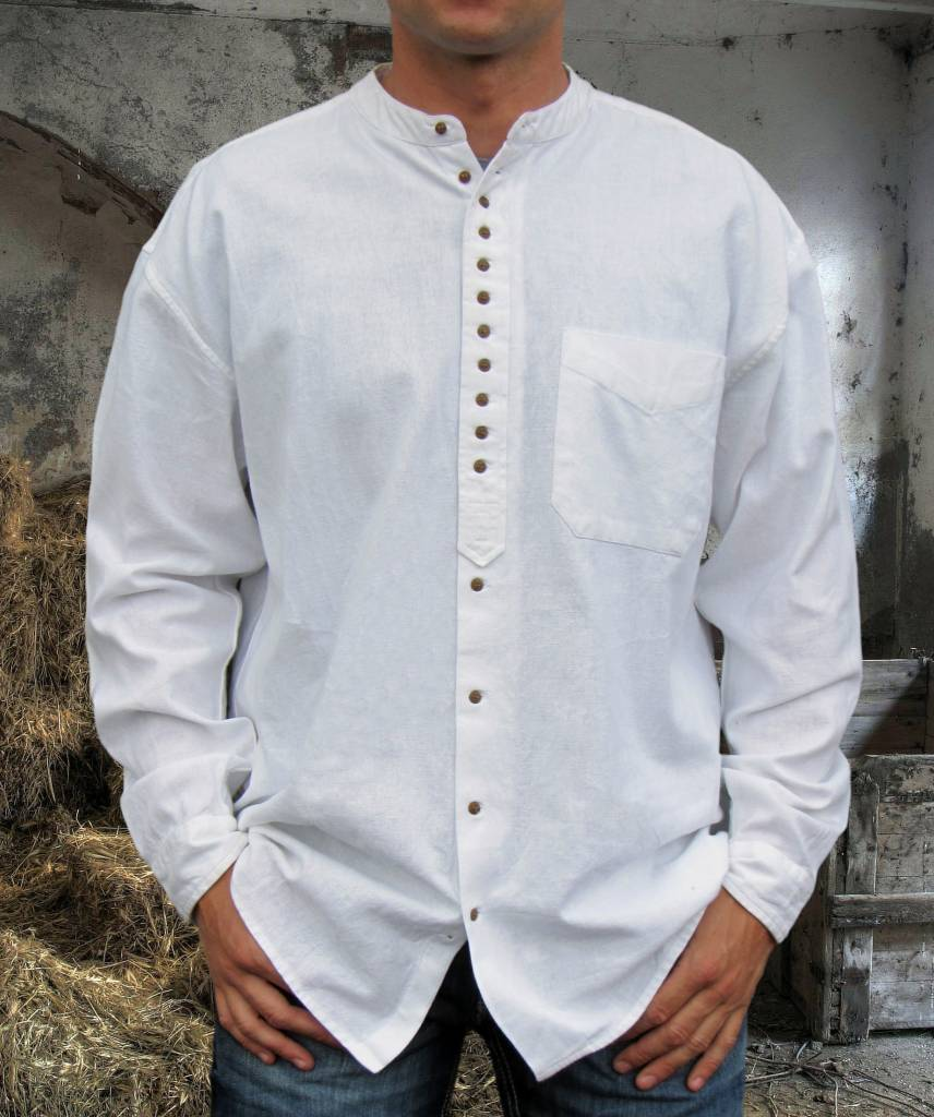 Shirt: Cotton and Linen Grandfather