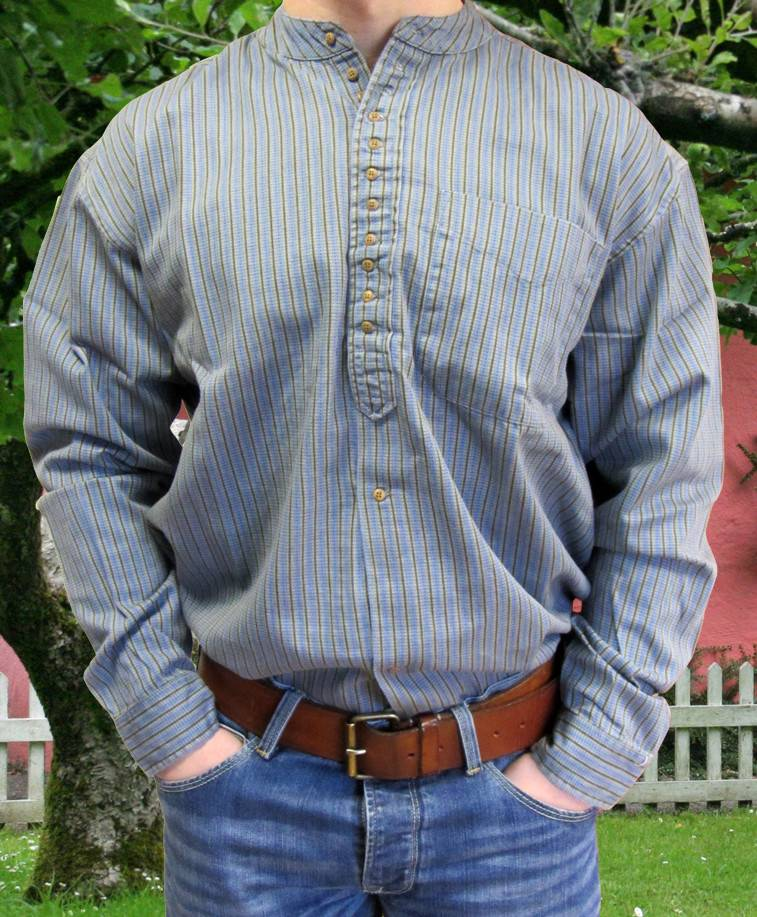 Shirt: Cotton Grandfather Pattern