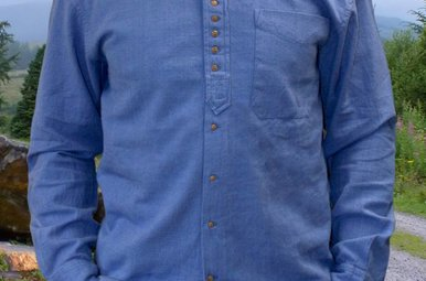 Shirt: Cotton and Linen Grandfather 2