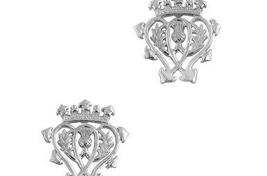 Earrings: Silver Luckenbooth Stud