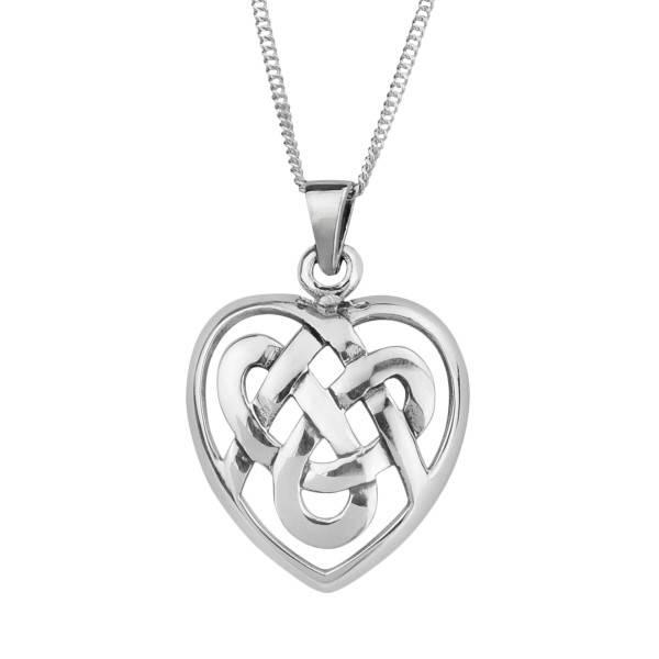 Pendant: Silver Celtic Heart