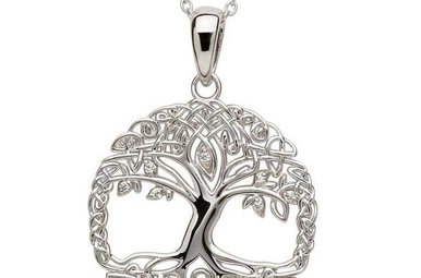 Pendant: SS Tree of Life cz
