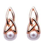 Earrings: SS Rose Plate