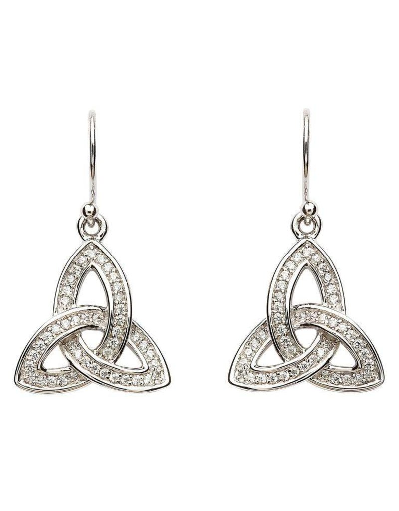 Earrings: SS Pave Set Trinity
