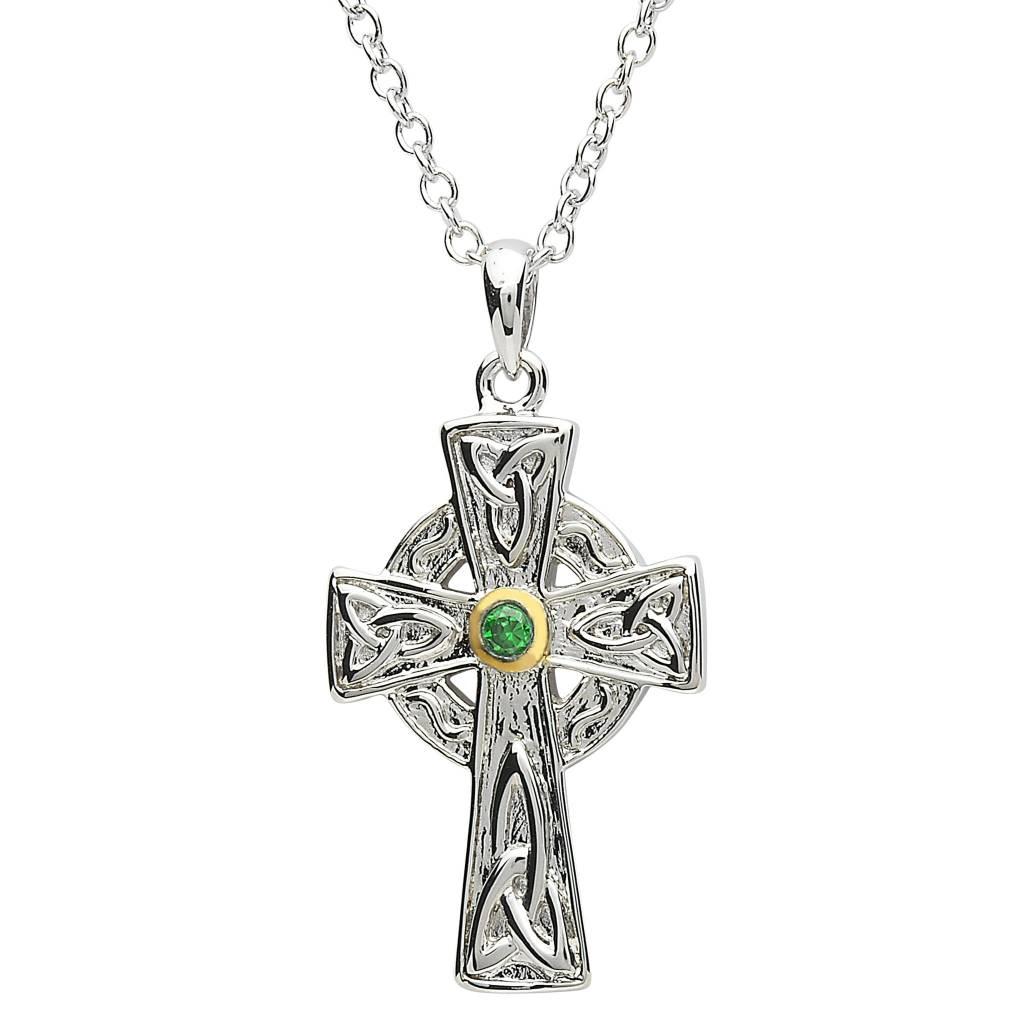 Pendant: Platinum Celtic Cross