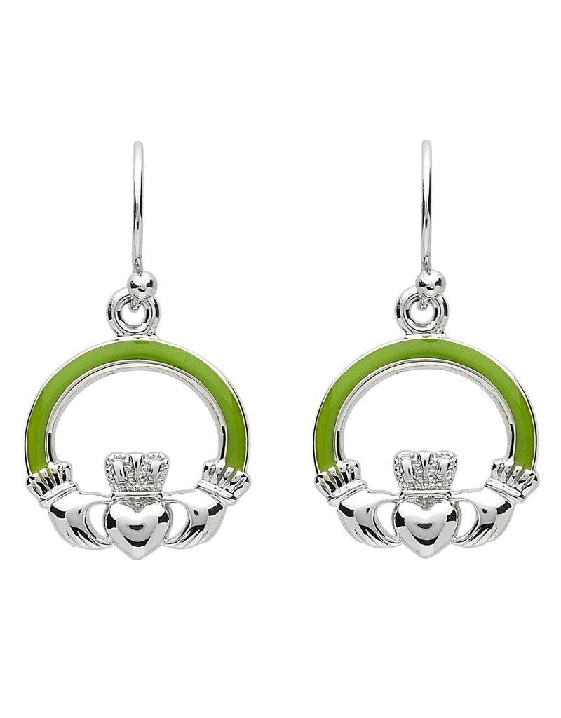 Earrings: Platinum Claddagh
