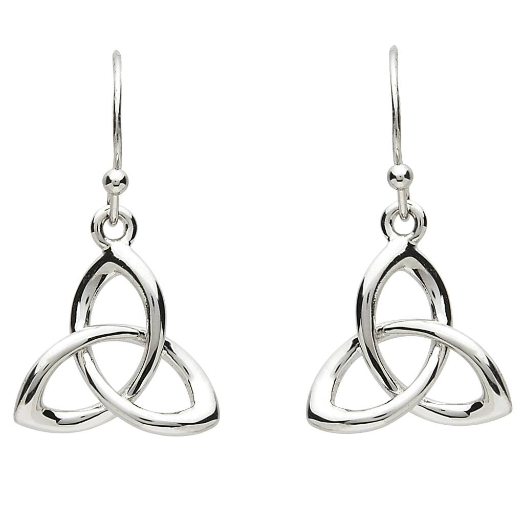 Earrings: Platinum Triquetra