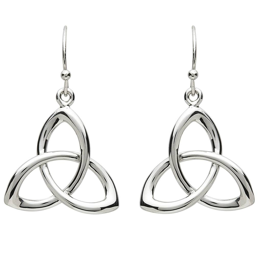 Earrings: Platinum Triquetra