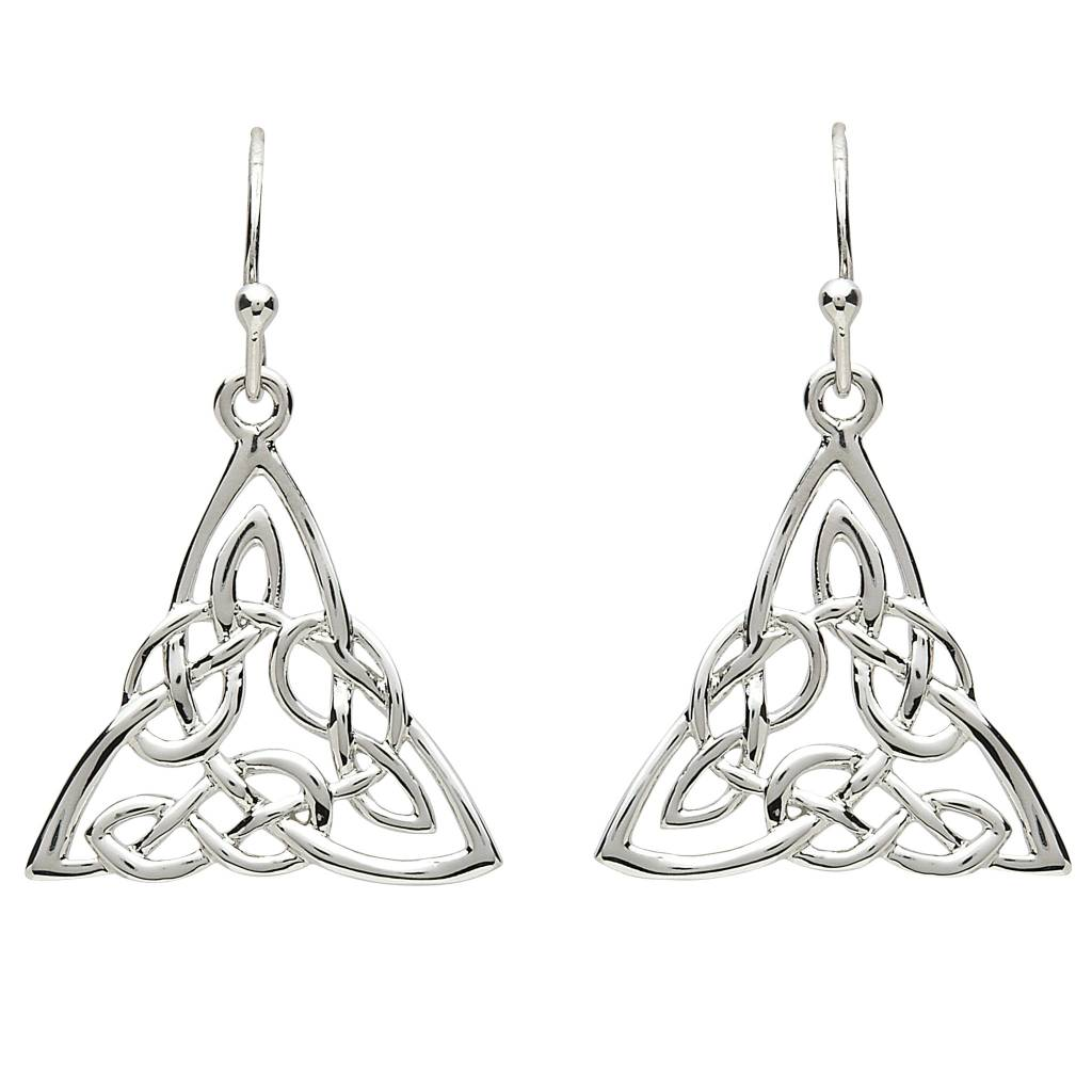 tin trinity cornish knot celtic earrings