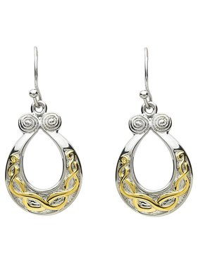 Earrings: Platinum Celtic Horseshoe ---------D-5.4--------- ---------PP53---------