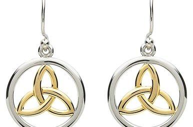 Earrings: Platinum Celtic Triquetra