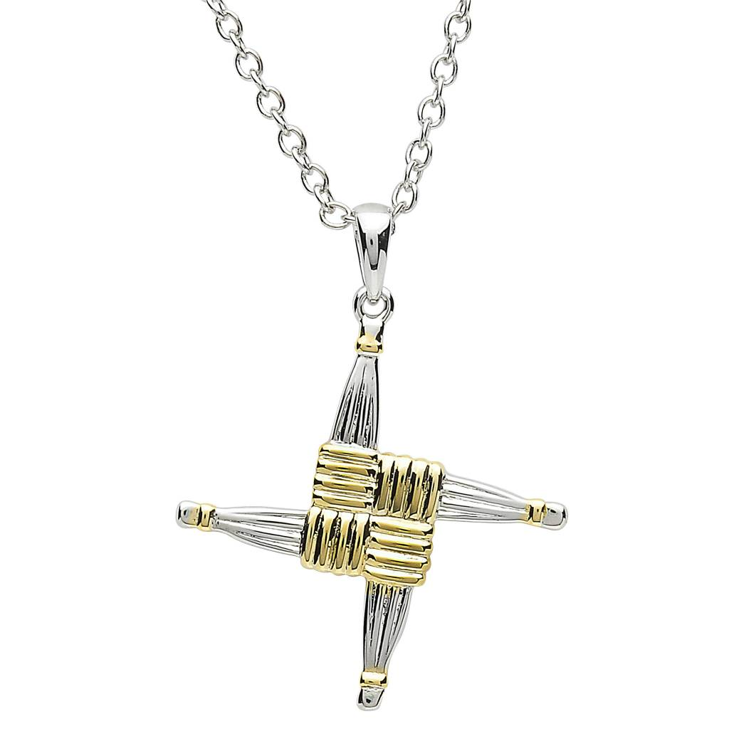 Pendant: Platinum St. Bridget's Cross