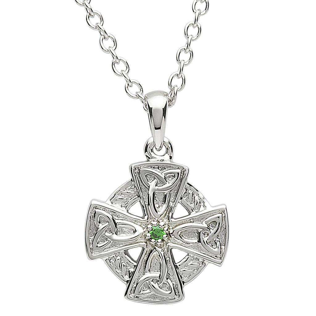 Pendant: Platinum Celtic Cross