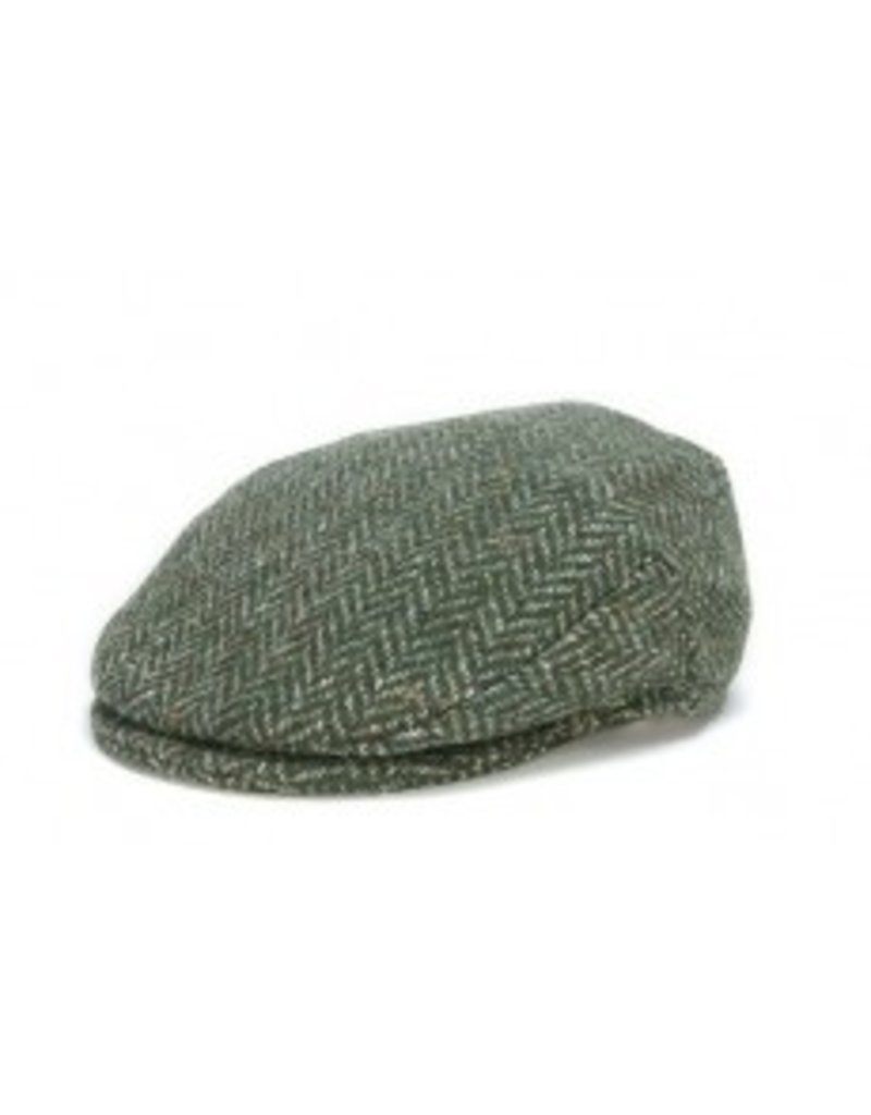 Hat: Vintage Wool Herringbone Cap, Green