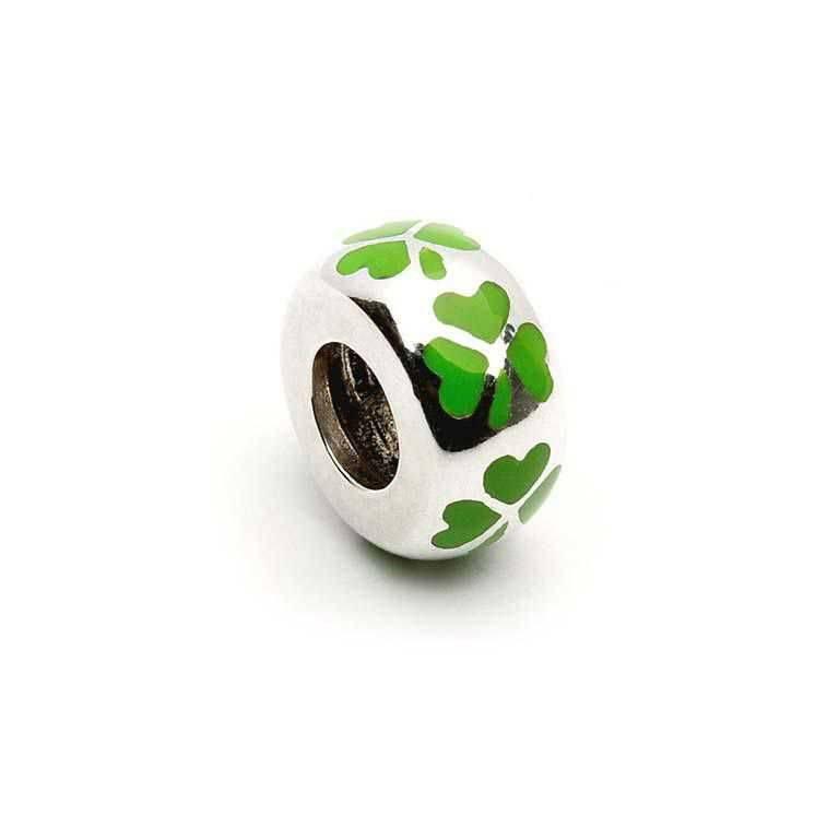 Bead: Sil Shamrock Green Enamel