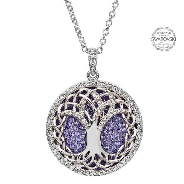 Pendant: SS Tree of Life Tanzanite Swarovski