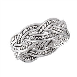 Ring: Silver Weave Ring, SS