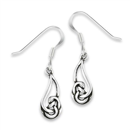 Earring: SS Celtic Knot Dangle WE9688