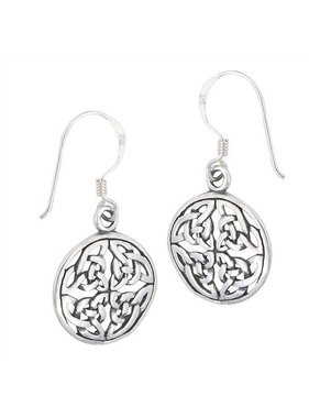 Earring: SS Circle Endless Knot WE9447