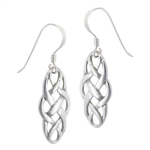 Earring: SS Interwoven Celtic Dangle