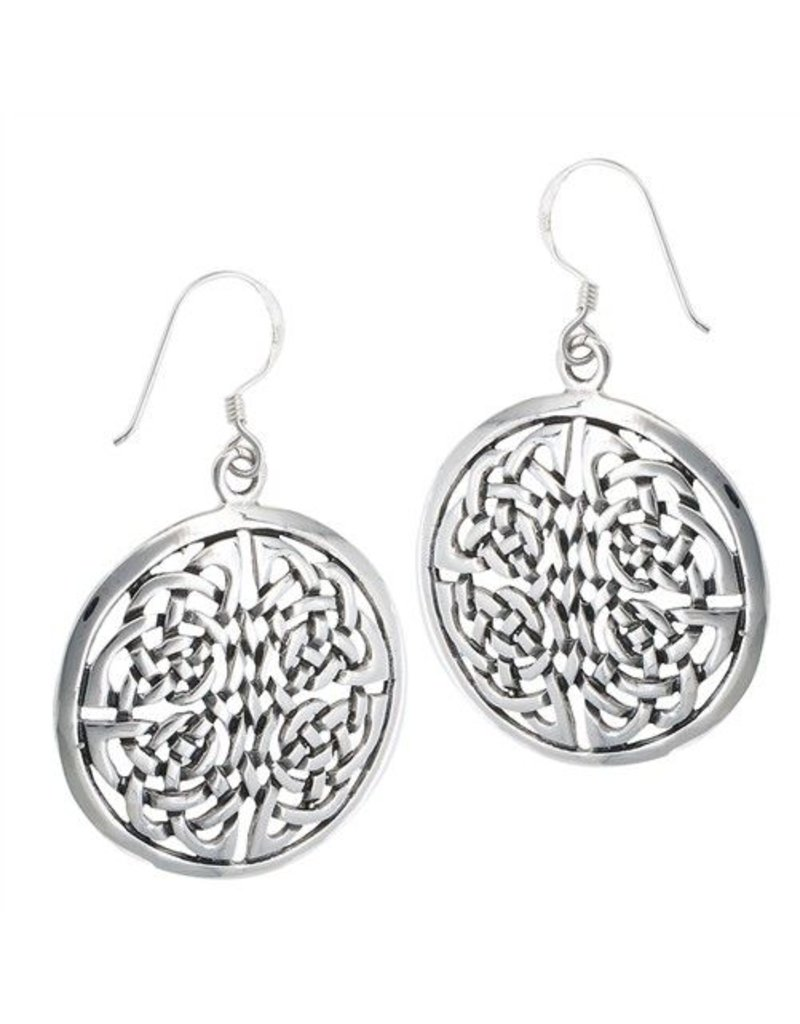 Earring: SS Silver Round Endless Knot WE4183