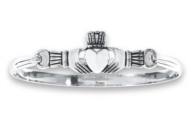 Bracelet: Stainless Steel  Bangle Claddagh WE01025