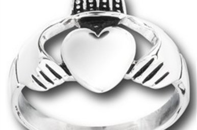 Ring: Stainless Steel Claddagh WE5439
