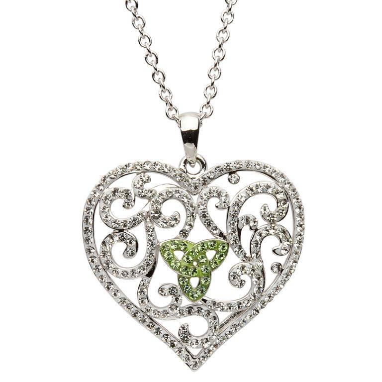 Pendant: Swarovski Valentines Heart w/Green