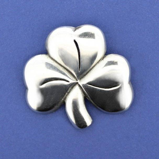 Brooch: Shamrock Pewter