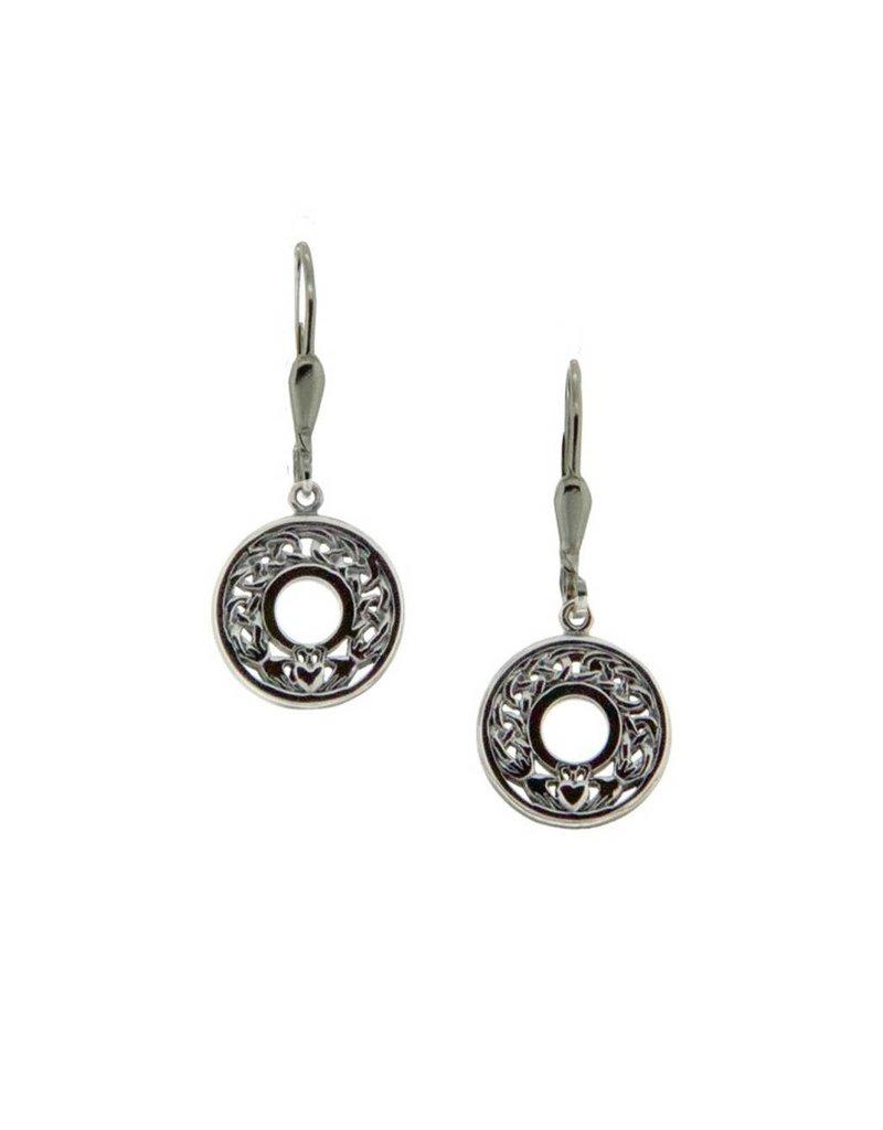 Earrings: Sterling Silver Claddagh