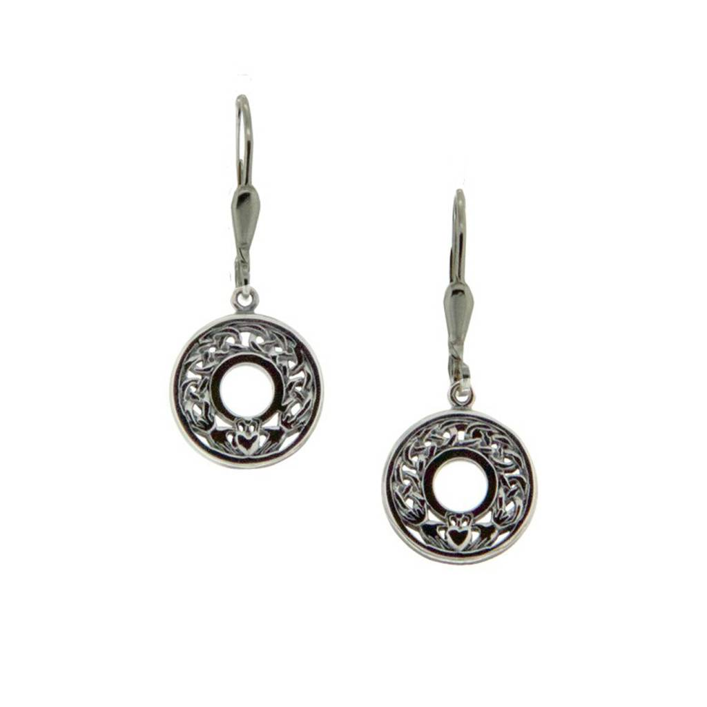 Earring: Sterling Silver Claddagh