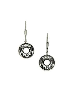 Earrings: Sterling Silver Thistle