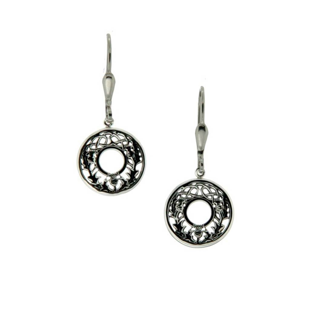 Earrings: Sterling Silver Thistle