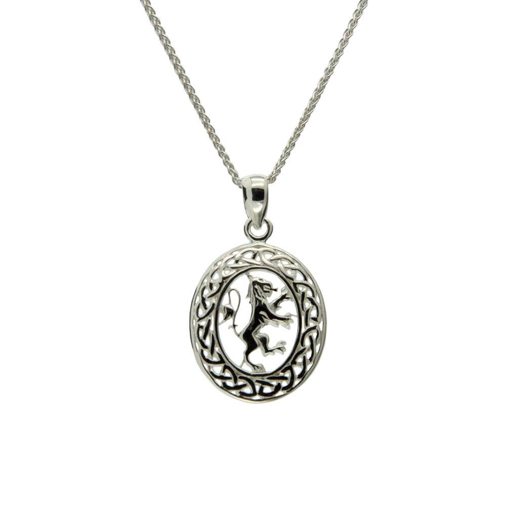 Pendant: Sterling Silver Rampant Oval
