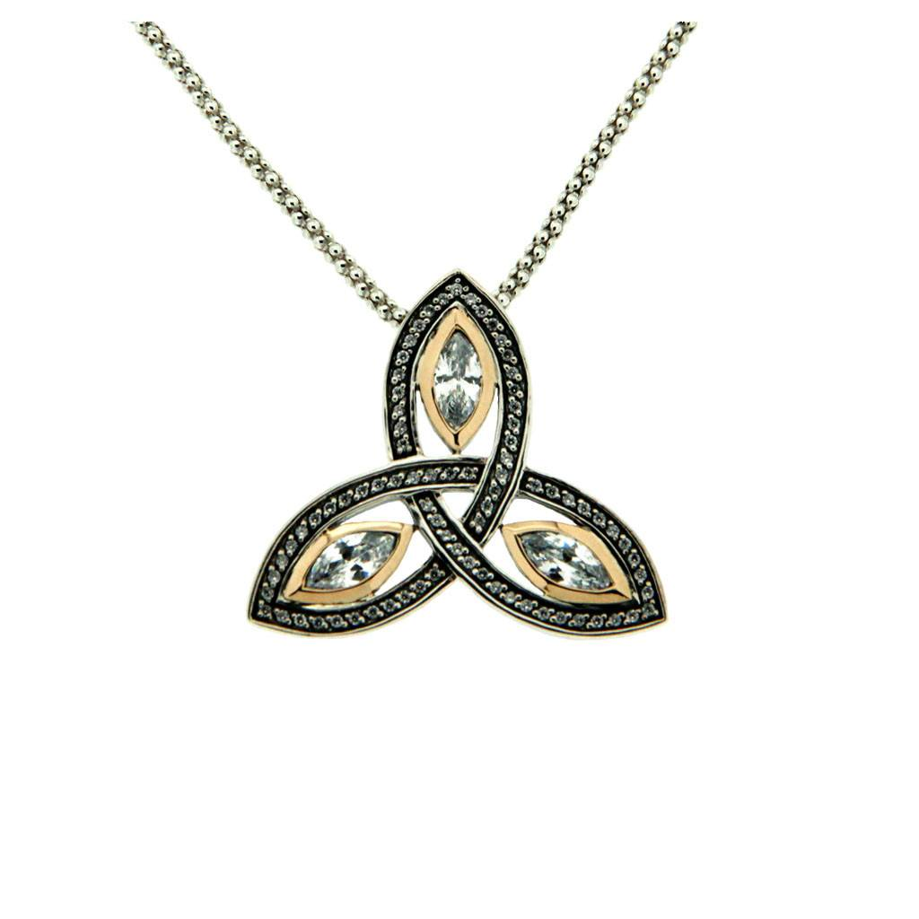 Pendant: Sterling Silver Trinity CZ
