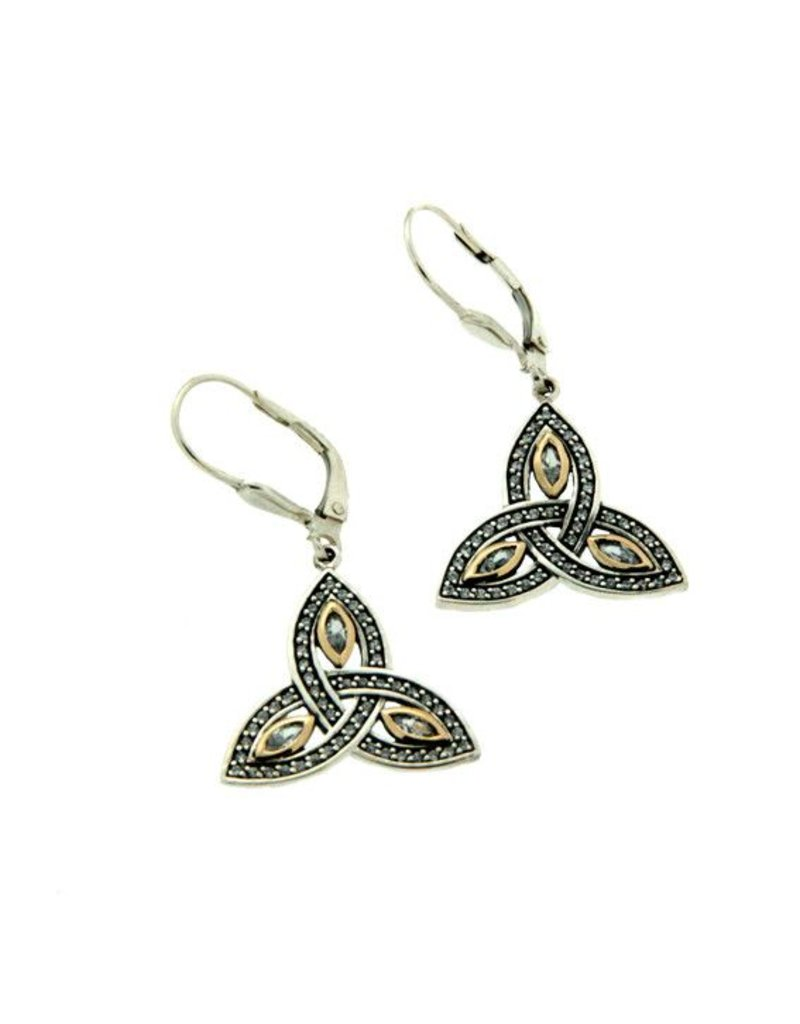 Earrings: SS 10K Trinity Marquis CZ